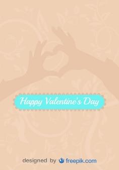 Miłość zarejestruj się za ręce w kształcie serca wektor