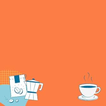Miłośnik kawy instagram post tło wektor