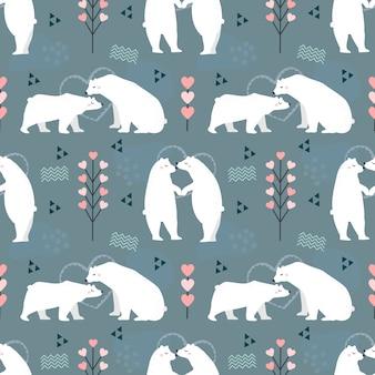Miłośnik niedźwiedzia polarnego wzór.