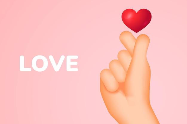 Miłosny gest ręki!