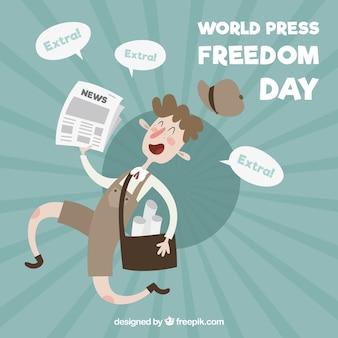 Miły dzień wolności prasy tło