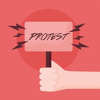 Miły kartel protestacyjny
