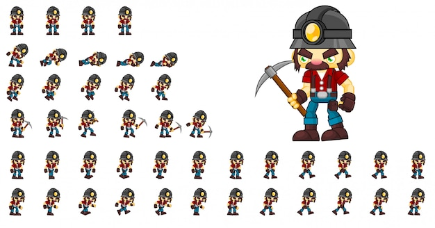 Miner game character