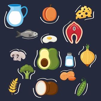 Minerały menu piętnastu składników diety