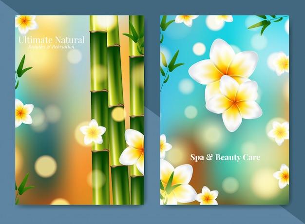 Minimalistyczna broszura na temat spa i opieki zdrowotnej.