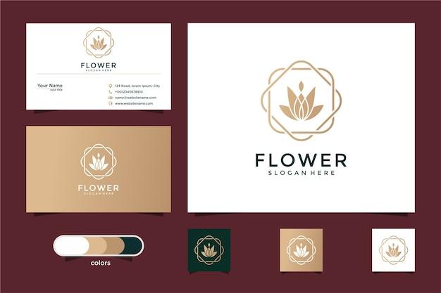 Minimalistyczna elegancka róża kwiatowa luksusowy salon kosmetyczny, moda, pielęgnacja skóry i wizytówka