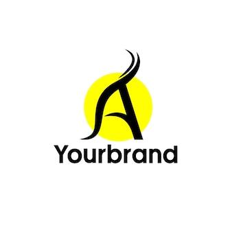 Minimalistyczna i stylowa koncepcja logo z inicjałami litery a dla twojej marki