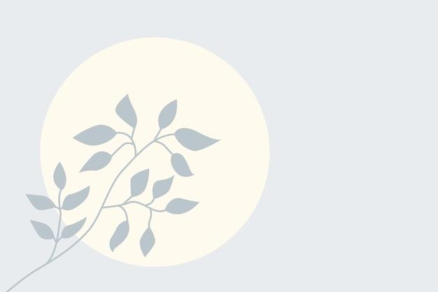 Minimalistyczna ilustracja przedszkola do projektowania gałęzi roślin