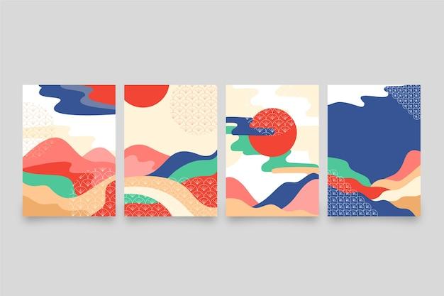 Minimalistyczna japońska kolekcja okładek