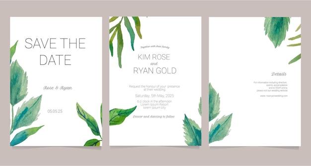 Minimalistyczna karta zaproszenie na ślub