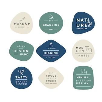Minimalistyczna kolekcja logo w pastelowych kolorach