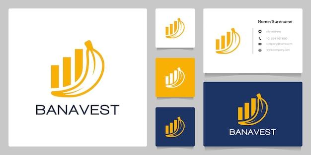 Minimalistyczna koncepcja projektu yellow banana investment logo