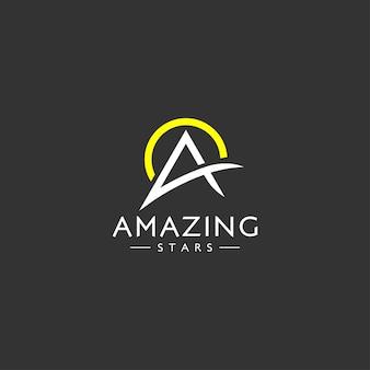 Minimalistyczna litera wstępna koncepcja logo