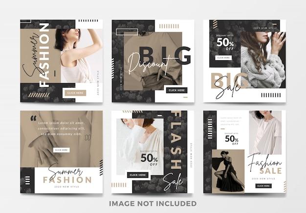 Minimalistyczna moda sprzedaż kwadratowy banneset