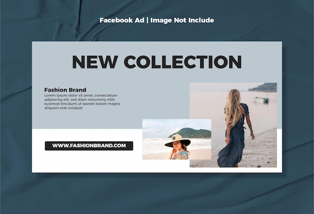 Minimalistyczna, nowoczesna reklama na facebooku