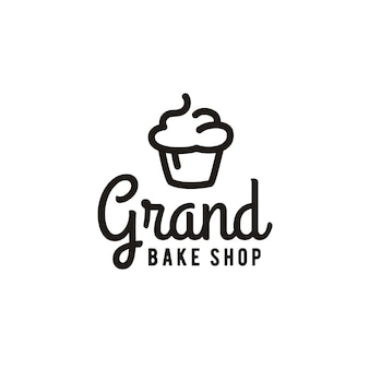 Minimalistyczna piekarnia z ciastami inspiracja wzornictwem logo