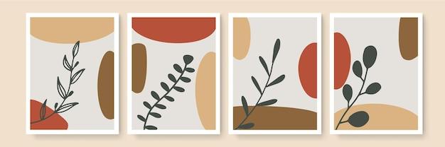 Minimalistyczna sztuka ścienna. abstrakcyjne pejzaże do estetycznych wnętrz boho. dekoracje ścienne do domu