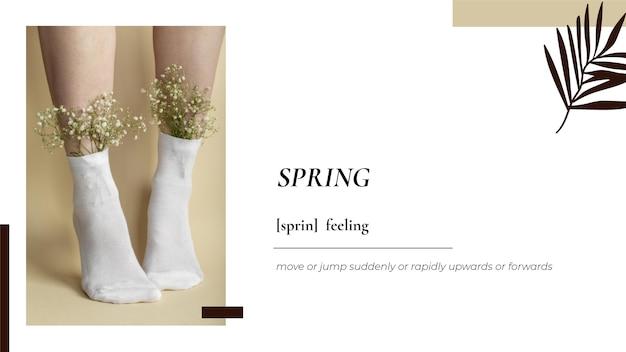 Minimalistyczna tapeta na pulpit z motywem kwiatowym i wiosną