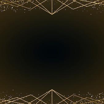 Minimalistyczna tapeta w stylu art deco z ozdobnym złotym brokatem