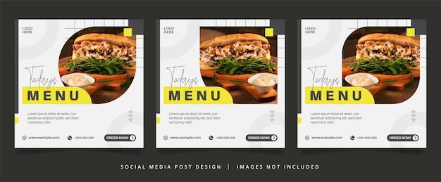 Minimalistyczna ulotka kulinarna lub baner w mediach społecznościowych