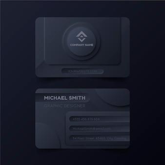 Minimalistyczna wizytówka firmy neumorph