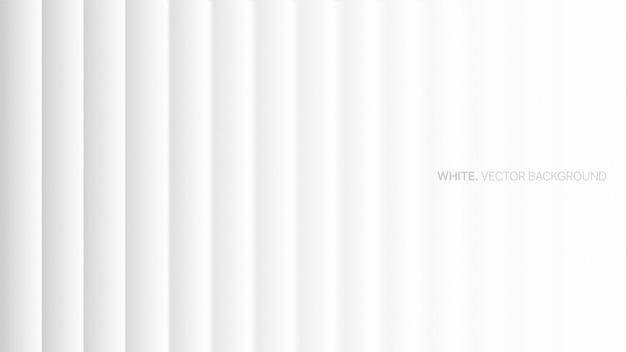 Minimalistyczne białe tło 3d gładkie linie
