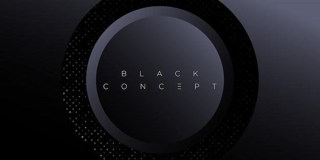 Minimalistyczne Czarne Premium Streszczenie Tło Z Luksusowymi Ciemnymi Elementami Geometrycznymi. Ekskluzywne Tapety Na Plakat, Broszurę, Prezentację, Stronę Internetową, Baner Itp. - Premium Wektorów
