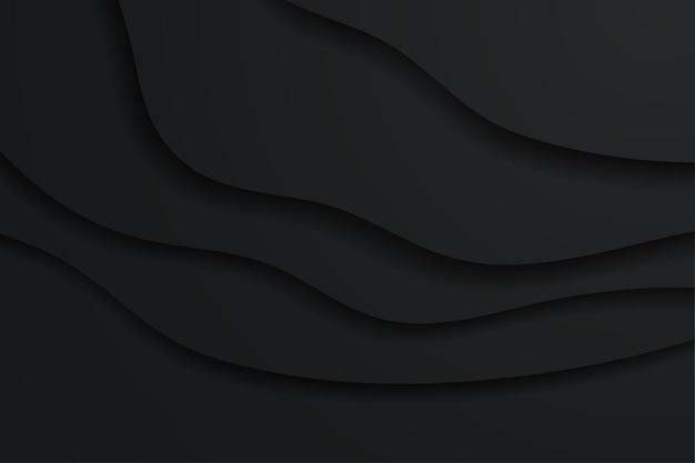 Minimalistyczne czarne tło w stylu papieru