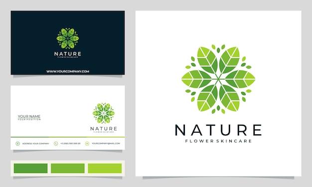 Minimalistyczne, eleganckie, nowoczesne logo kwiatowe, do salonów, spa, pielęgnacji skóry, butików, z wizytówkami