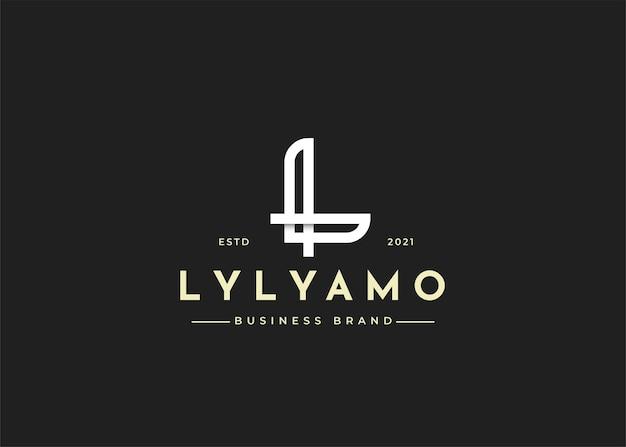 Minimalistyczne ilustracje szablonu projektu logo litery l