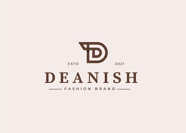 Minimalistyczne ilustracje szablonu projektu logo z literą d