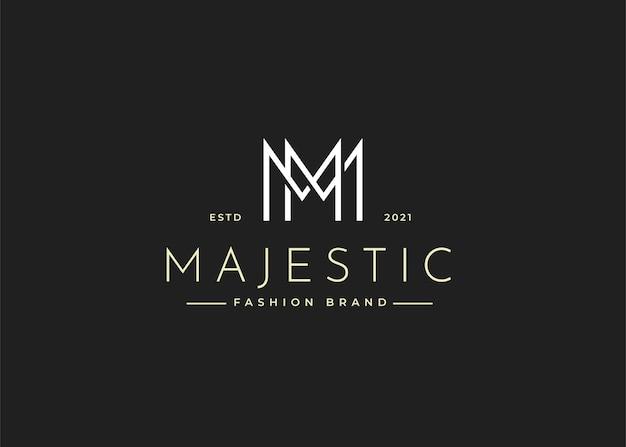 Minimalistyczne ilustracje szablonu projektu logo z literą m