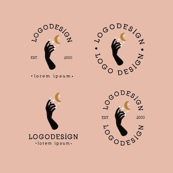 Minimalistyczne logo dłoni
