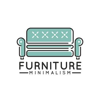 Minimalistyczne logo firmy meblowej