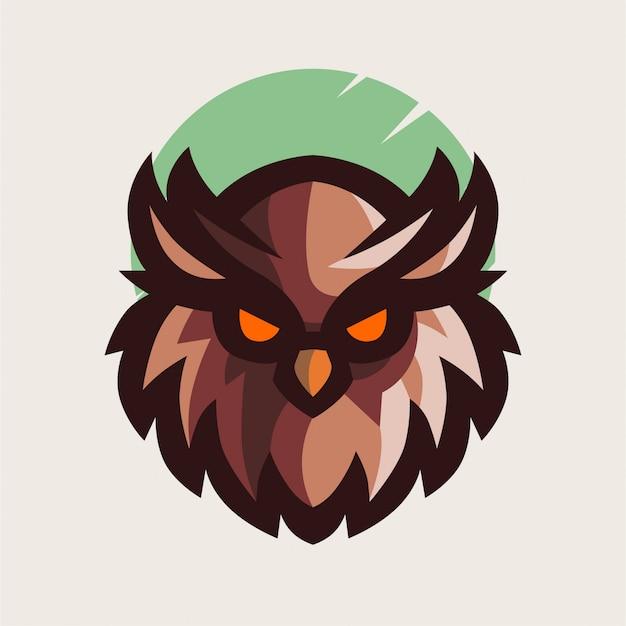 Minimalistyczne logo głowy sowy