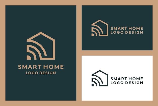 Minimalistyczne logo inteligentnego domu