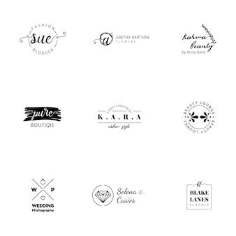 Minimalistyczne logo kolekcji szablonów
