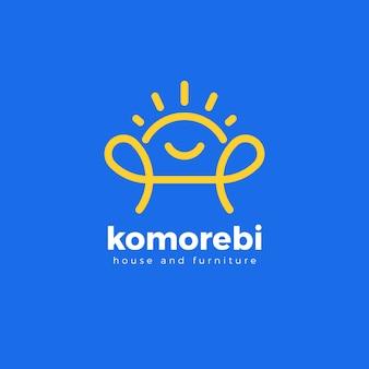 Minimalistyczne logo koncepcja mebli