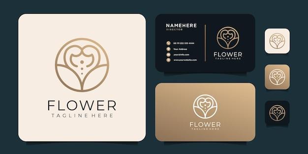 Minimalistyczne logo kwiatowe