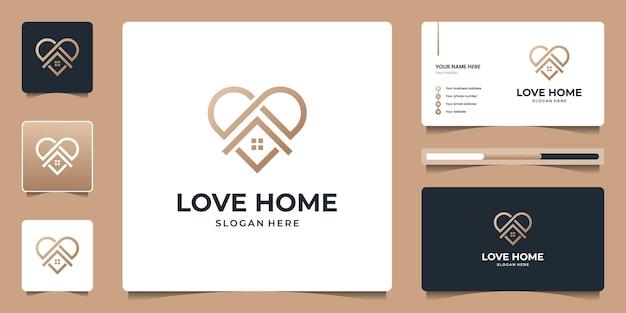 Minimalistyczne logo nieruchomości domu z ikoną linii dla mieszkania, mieszkania, est