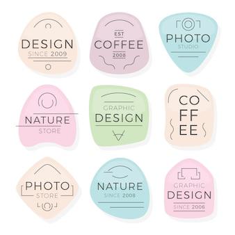Minimalistyczne logo w pastelowych kolorach