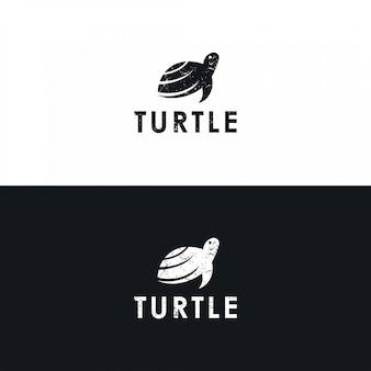 Minimalistyczne logo żółwia