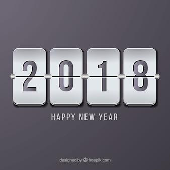 Minimalistyczne szare tło nowego roku