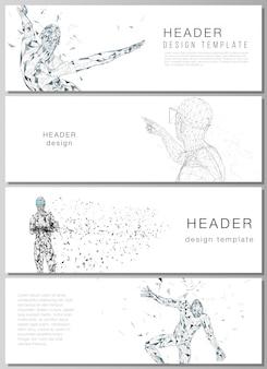 Minimalistyczne wirtualne ciało osoby ilustracja.