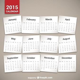 Minimalistyczny 2015 kalendarz