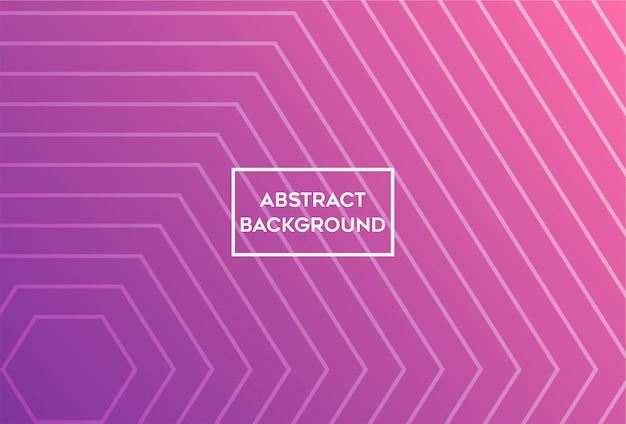 Minimalistyczny abstrakcjonistyczny purpurowy geometryczny sześciokąt linii tło.