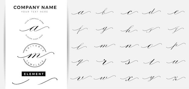 Minimalistyczny atramentowy początkowy szablon listu z logo
