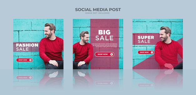 Minimalistyczny baner sprzedaży mody na instagram lub szablon postu w mediach społecznościowych