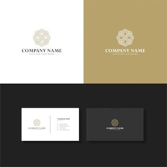 Minimalistyczny design logo ozdoba ornament