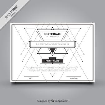 Minimalistyczny dyplom z liniami